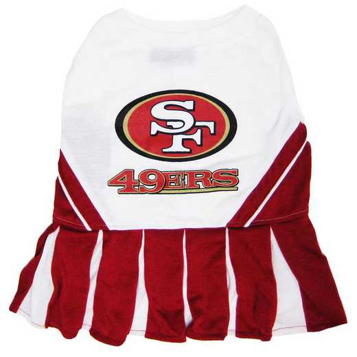 SAN-4007: SAN FRANCISCO 49ERS Pet Cheerleader Outfit