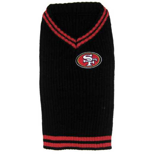SAN FRANCISCO 49ERS Pet V-Neck Sweater