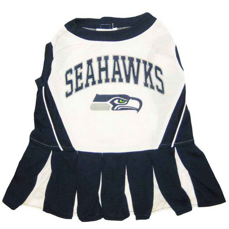 SEA-4007: SEATTLE SEAHAWKS Pet Cheerleader Outfit