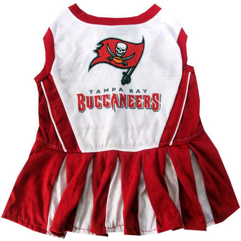 TBB-4007: TAMPA BAY BUCCANEERS Pet Cheerleader Outfit