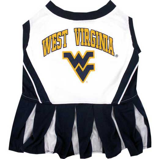 WVU-4007: WEST VIRGINIA Pet Cheerleader Outfit