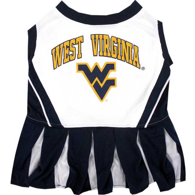 WVU-4007: WEST VIRGINIA Pet Cheerleader Outfit