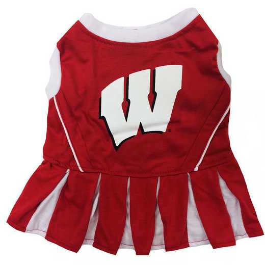 WI-4007: WISCONSIN Pet Cheerleader Outfit
