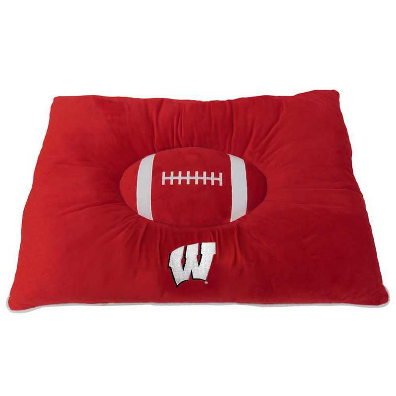 WI-3188: WISCONSIN BADGERS PILLOW BED