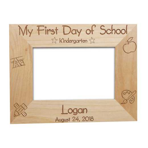 929442: First Day of School Wood Fram Alder 5x7