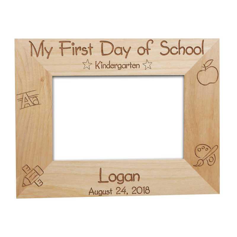 929442: First Day of School Wood Fram Alder 5x7