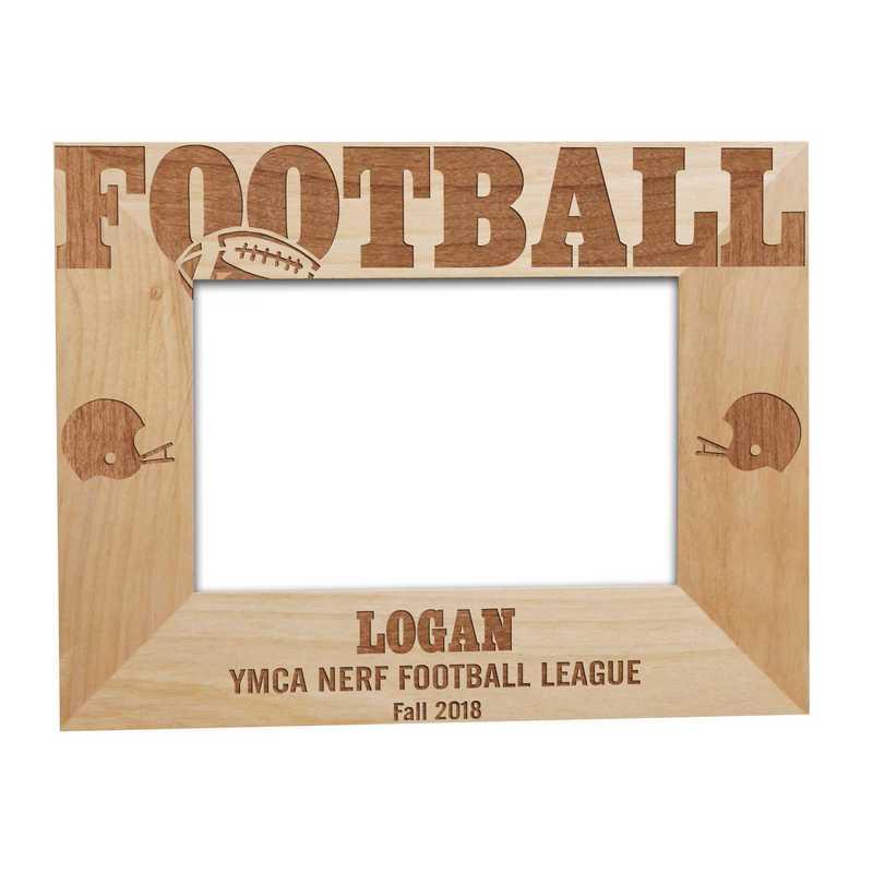 925491: Football Fan Wooden Frame Alder 4 x 6
