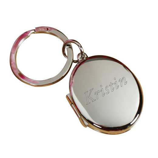 G11808: Oval Locket Keychain- name