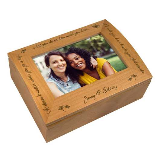 G11842: Wooden Photo Keepsake Box personalized