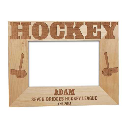 934332: Hockey Wooden  Frame Alder 5 x 7