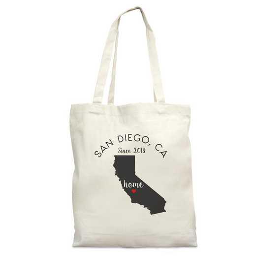 8110622CA: Nat Canvas Tote Bag-CA