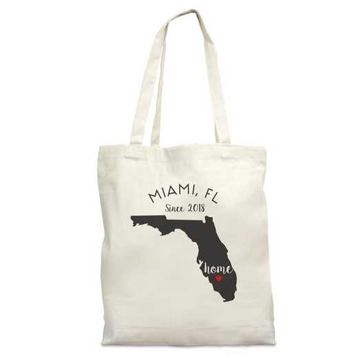 8110622FL: Nat Canvas Tote Bag-FL