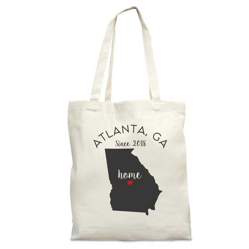 8110622GA: Nat Canvas Tote Bag-GA
