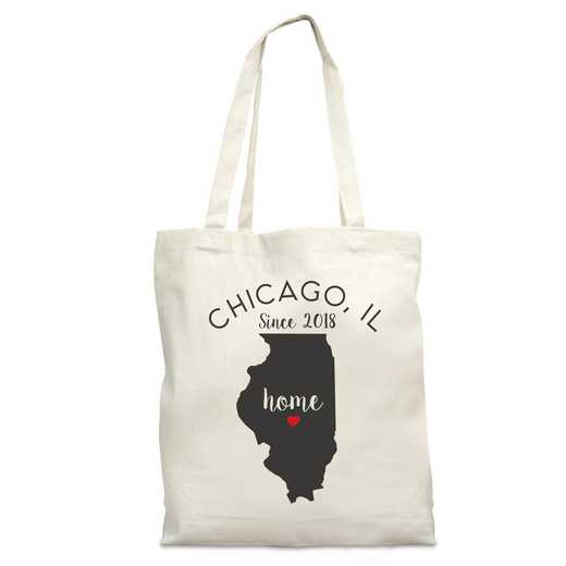 8110622IL: Nat Canvas Tote Bag-IL