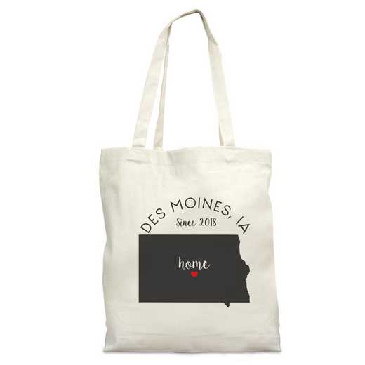 8110622IA: Nat Canvas Tote Bag-IA
