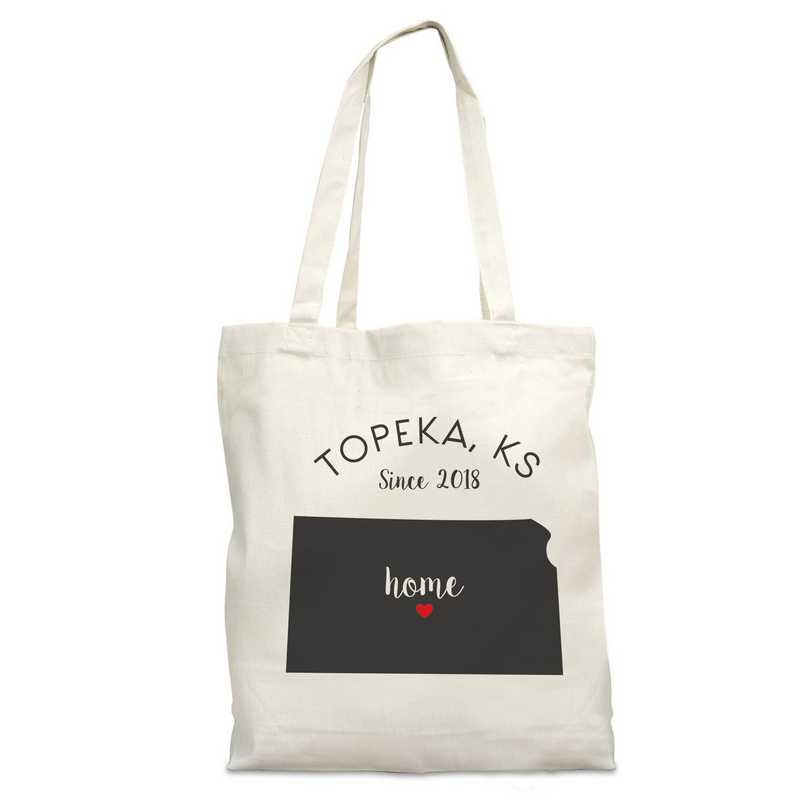 8110622KS: Nat Canvas Tote Bag-KS