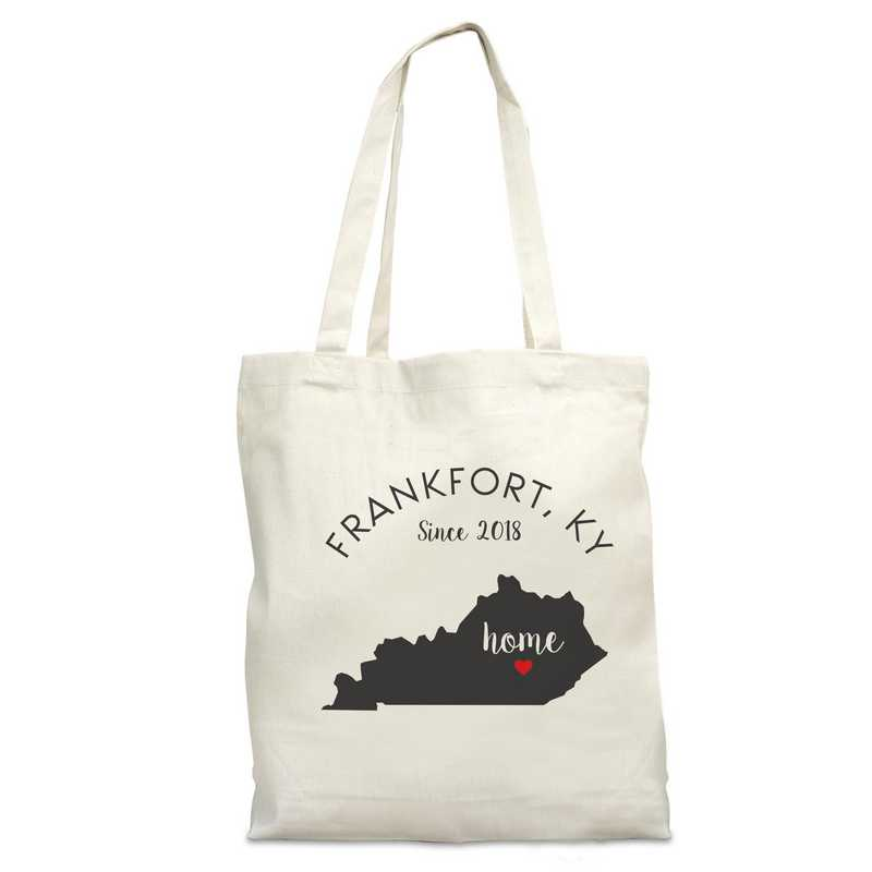 8110622KY: Nat Canvas Tote Bag-KY
