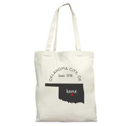 8110622OK: Nat Canvas Tote Bag-OK
