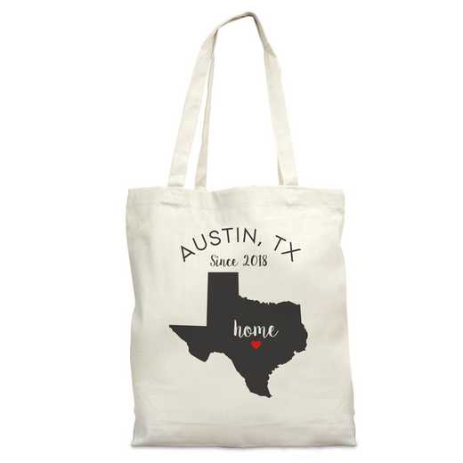 8110622TX: Nat Canvas Tote Bag-TX