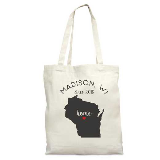 8110622WI: Nat Canvas Tote Bag-WI