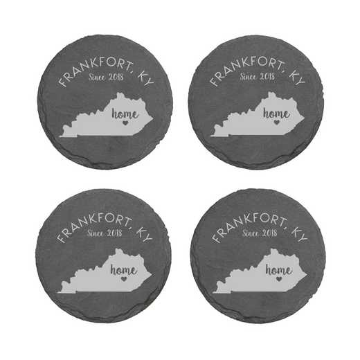 L11062153KYPGS: Home State-PGS Slate Rnd Csters- S/4-KY