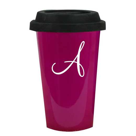 L990613PK: Latte Mug Pink 1 intial