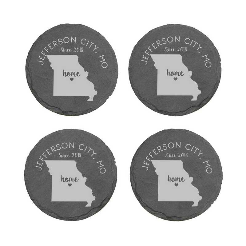 L11062153MOPGS: Home State-PGS Slate Rnd Csters- S/4-MS