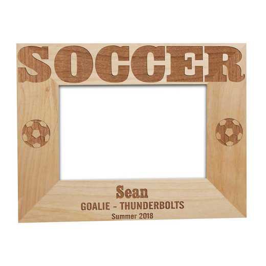 925542: Soccer Wooden  Frame Alder 5 x 7