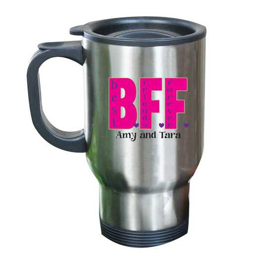 262170MST: Stainless Steel Travel Mug BFF
