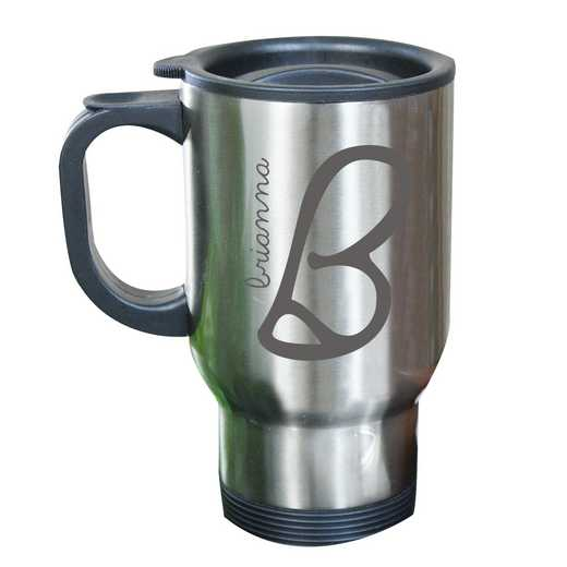 274800MST: Stainless Steel Travel Mug Initial/Name