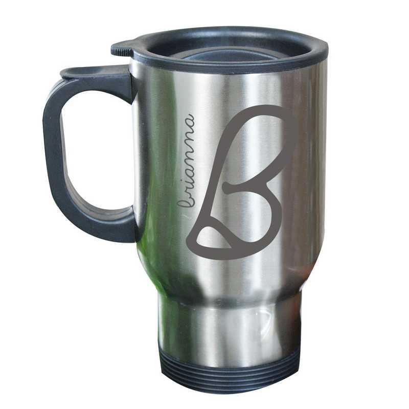 274800MST: Stainless Steel Travel Mug Initial/Name