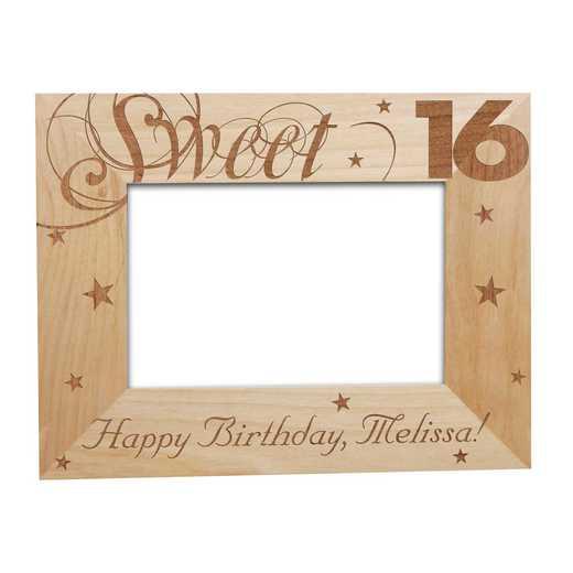 923862: Sweet Sixteen Wooden Frame Alder 5 x 7