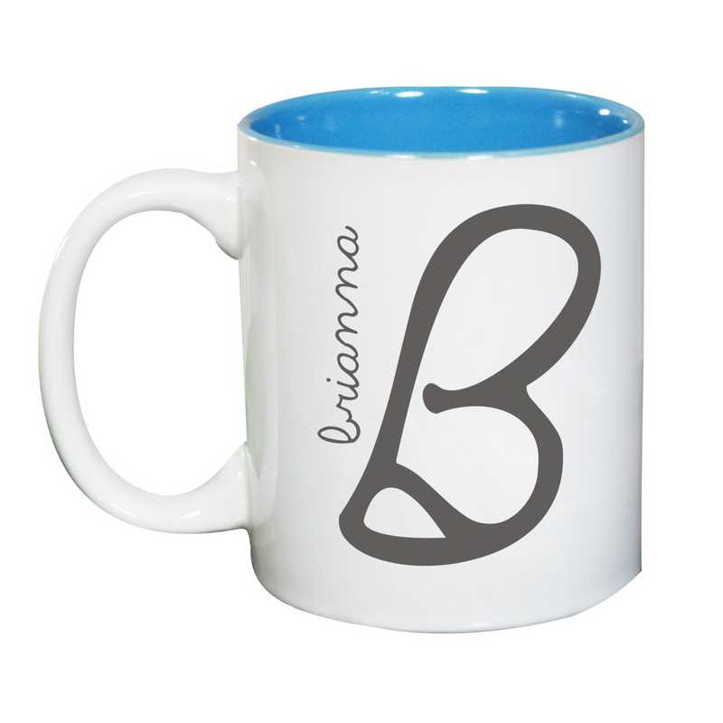 274800MLB: TwoToned LIGHT BLUE Ceramic Mug Ini/Name