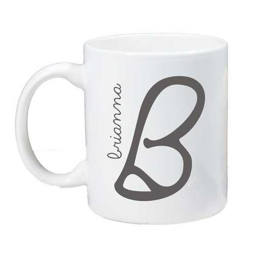 274800M: Coffee Mug White 11oz Initial & Name