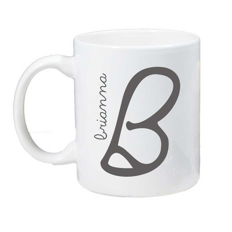 274800M: Coffee Mug White 11oz Initial & Name