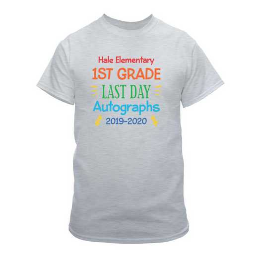 Personalized Autograph Youth Light Grey Last Day of School T-Shirt