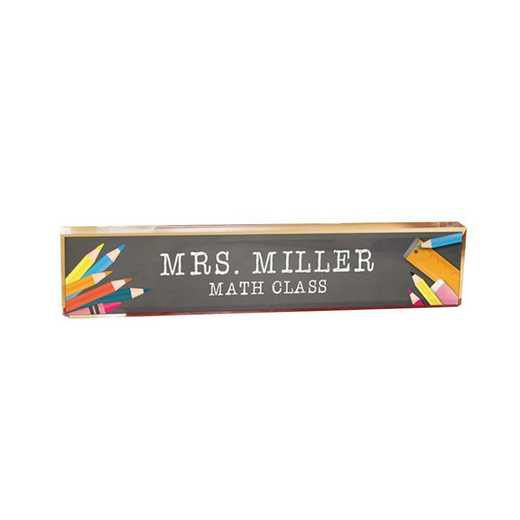 85129909: PGS Personalized School Tools Name Plate