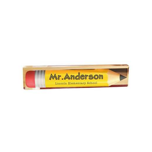 85131159: PGS Personalized Pencil Arcylic Name Plate