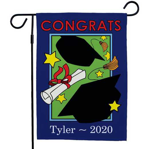 83058912: PGS Blue Boarder Grad Garden Flag