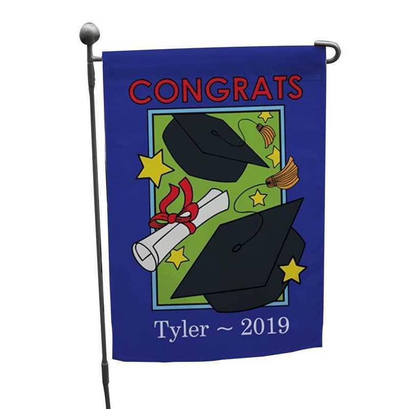 83058912: PGS Blue Boarder Grad Garden Flag