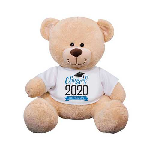 "8314006B13BL: PGS Bear Grad Banner 13"" Blue"