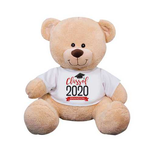 "8314006B13RD: PGS Bear Grad Banner 13"" Red"