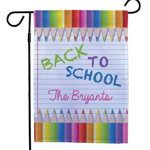 83077972: PGS Back To School Double Sided Garden Flag