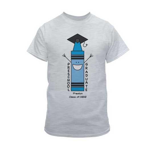 Blue Graduation T-shirt grey
