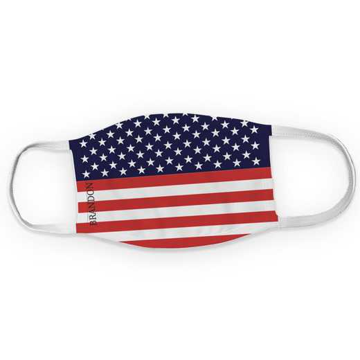 U16374134: Patriotic Flag Adult Face Mask