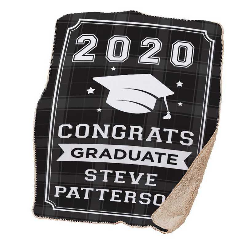 830126065R: PGS Pers Congrats Graduate Flannel Tap