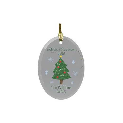8126694: PGS Personalized Family Christmas Tree Glass Ornament