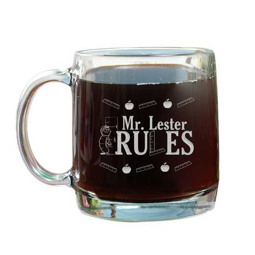G211230: Teacher Rules 13oz Glass Mug