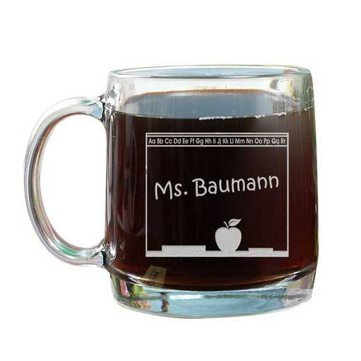 G222820: Chalkboard Teacher 13oz Glass Mug
