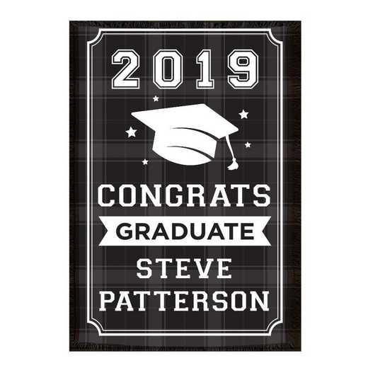830126065R: PGS Pers Congrats Graduate Flannel Tap